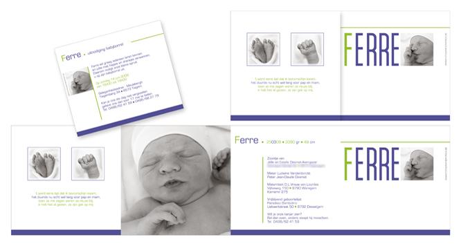 Nieuw geboortekaartje met foto…
