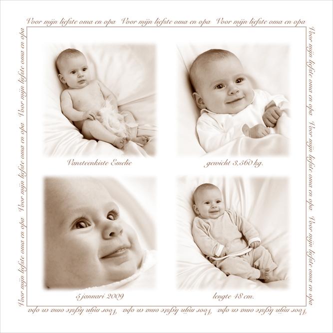 Vierkant geboortecadeau