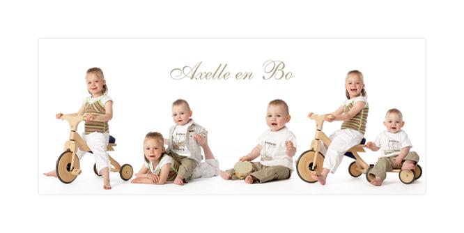 Fotomontage met de mooiste kinderfoto's van uw bengels