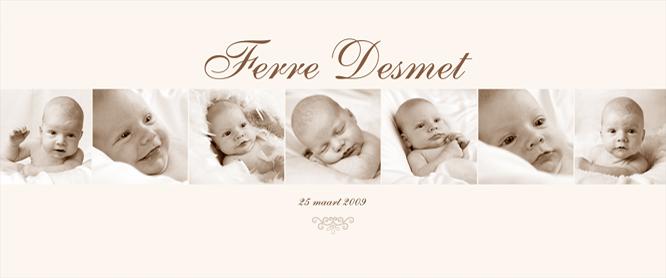 Digitale fotomontage van uw baby