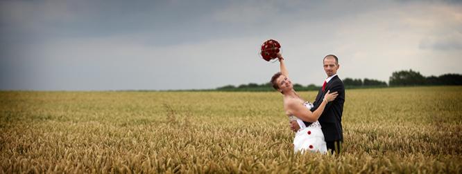 Huwelijksfotografie op het platteland