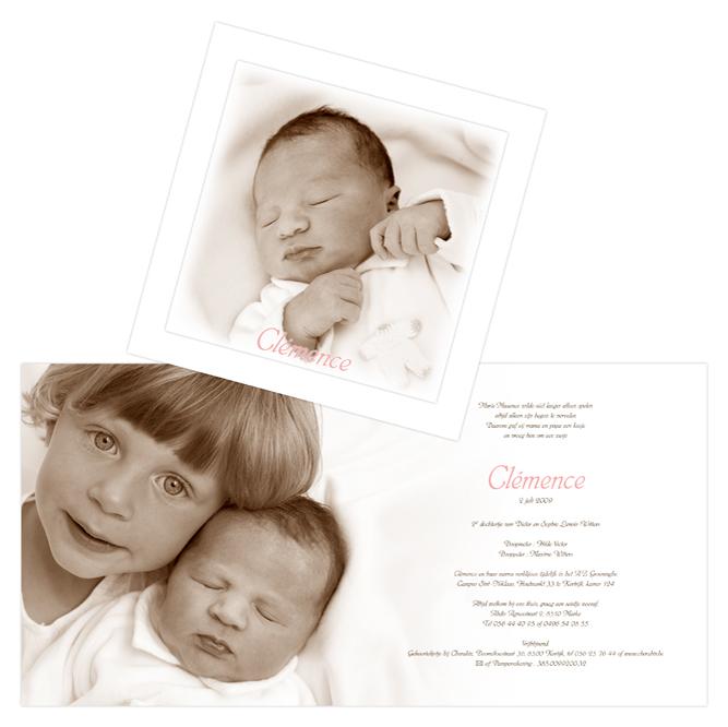 Het eerste geboortekaartje in juli
