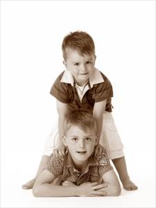 Kinderfotografie met twee broers