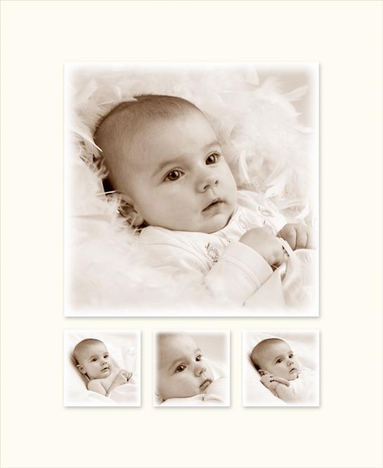 Montage met babyfoto's