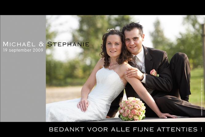 Huwelijksbedanking van Stephanie en Michaël