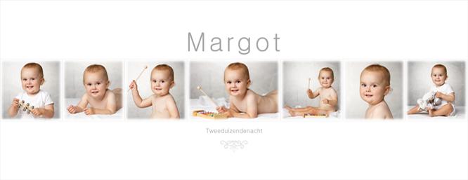 Fotomontage met de mooiste kinderfoto's van Margot
