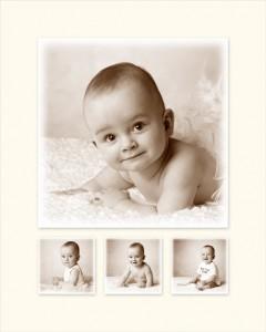 Babyfoto met Vik in de hoofdrol.