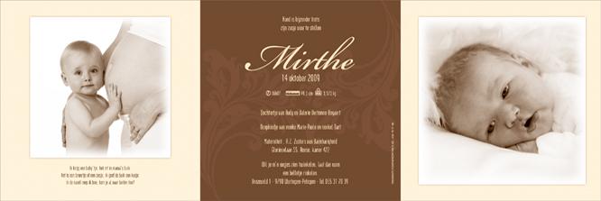 Geboortekaartje van Mirthe