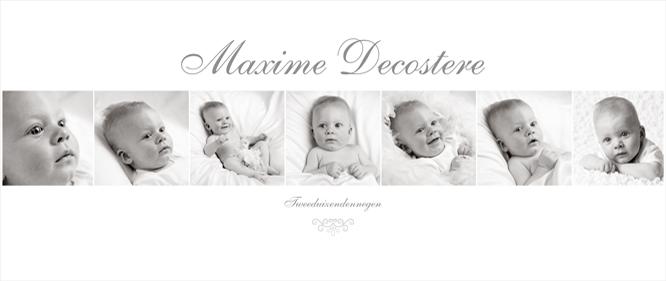 Fotomontage met babyfotografie