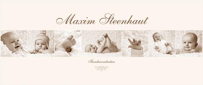 Babyfotografie als wanddecoratie