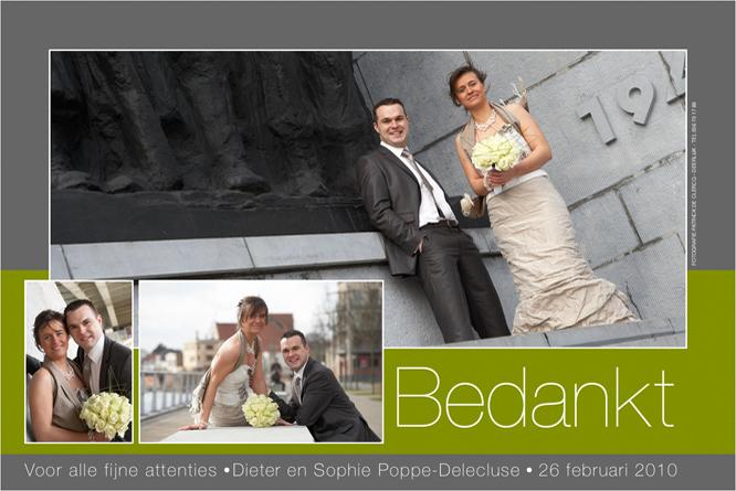 Huwelijksbedankingen à la carte