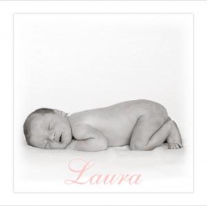 voorzijde geboortekaartje met foto