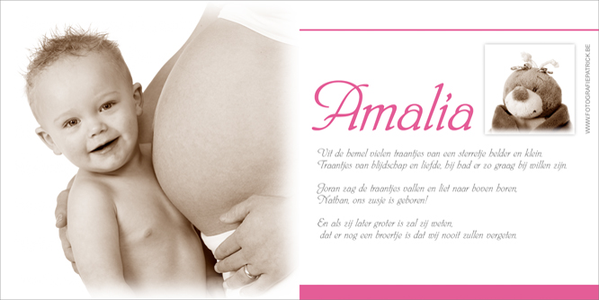 geboortekaartje met foto toe