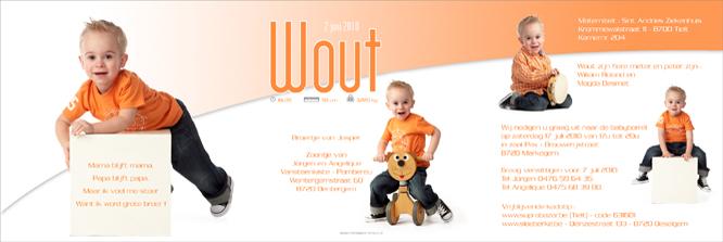 geboortekaartje met foto Wout