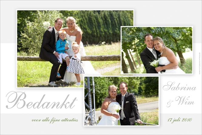 Huwelijksbedanking van Wim en Sabrina