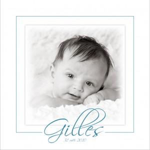 Bedankingskaartje met foto van uw baby