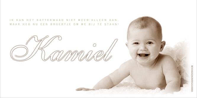 Graag stellen wij u voor aan Kamiel…