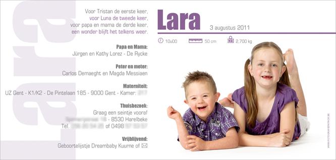 Hiep, hiep, hoera voor Lara