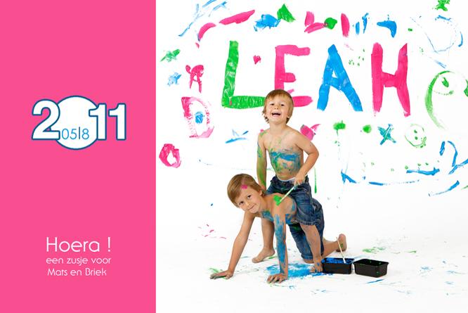 Een kleurrijke toekomst voor Leah