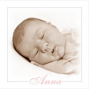 Anna's geboortekaartje