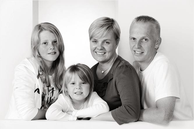 Op de foto met het hele gezin