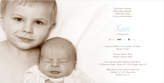 De eerste geboortekaartjes met foto van 2012