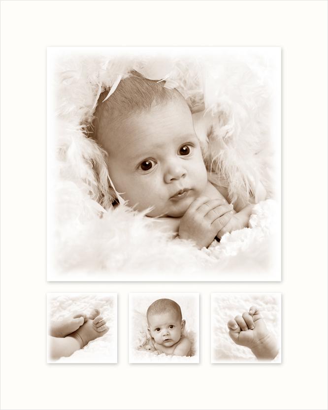 Fotomontage met uw 4 favoriete babyfoto's
