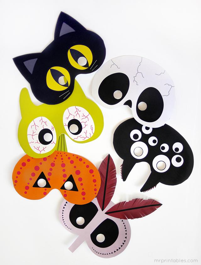 Gratis halloweenmaskers