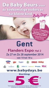 Download kortingsbon Babydays Gent 2014