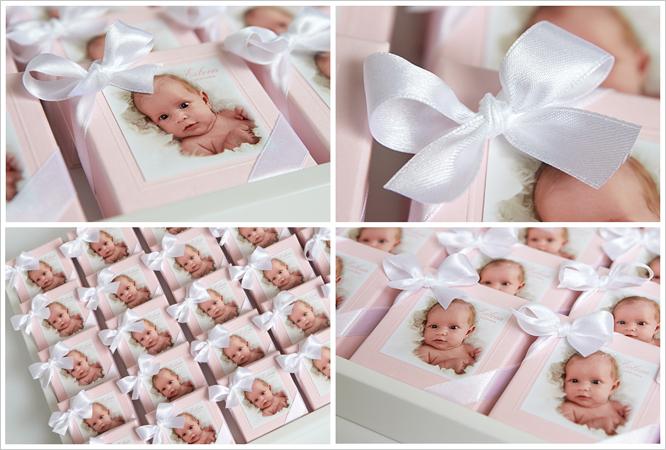 Doopsuikers met de foto van uw baby