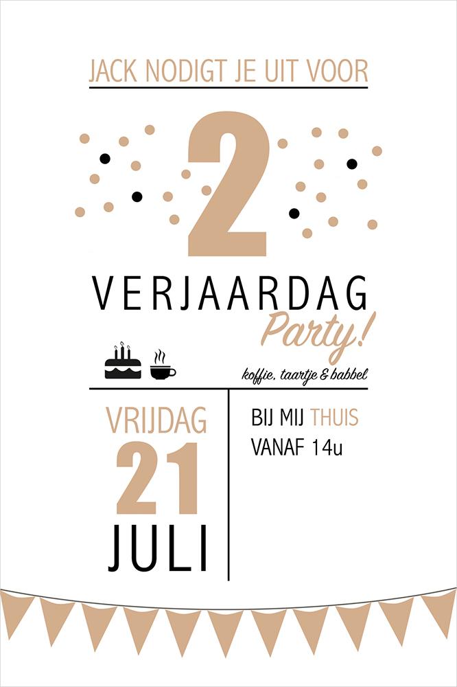 Uitnodiging verjaardag recto